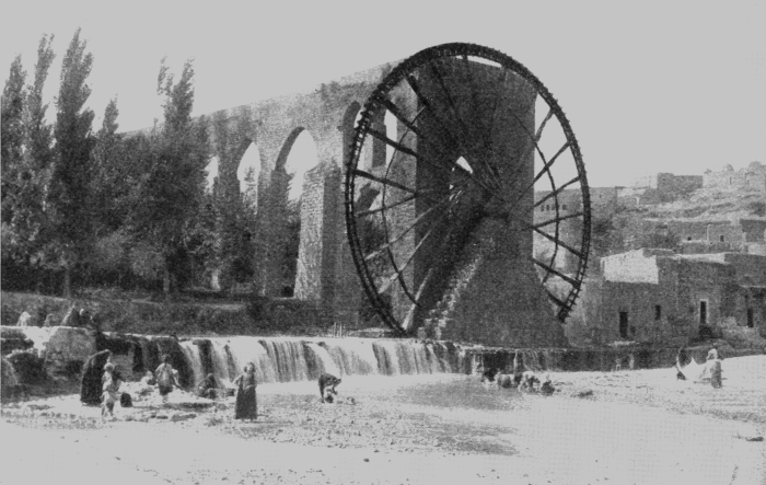 PSM_V88_D110_Ancient_syrian_water_wheel_pump_for_irrigation